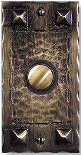 Distinct craftsman doorbell button & Distinct Craftsman hammered copper doorbell button