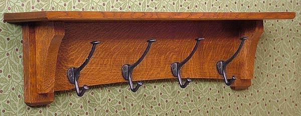 Craftsman Mission Oak Coat Rack